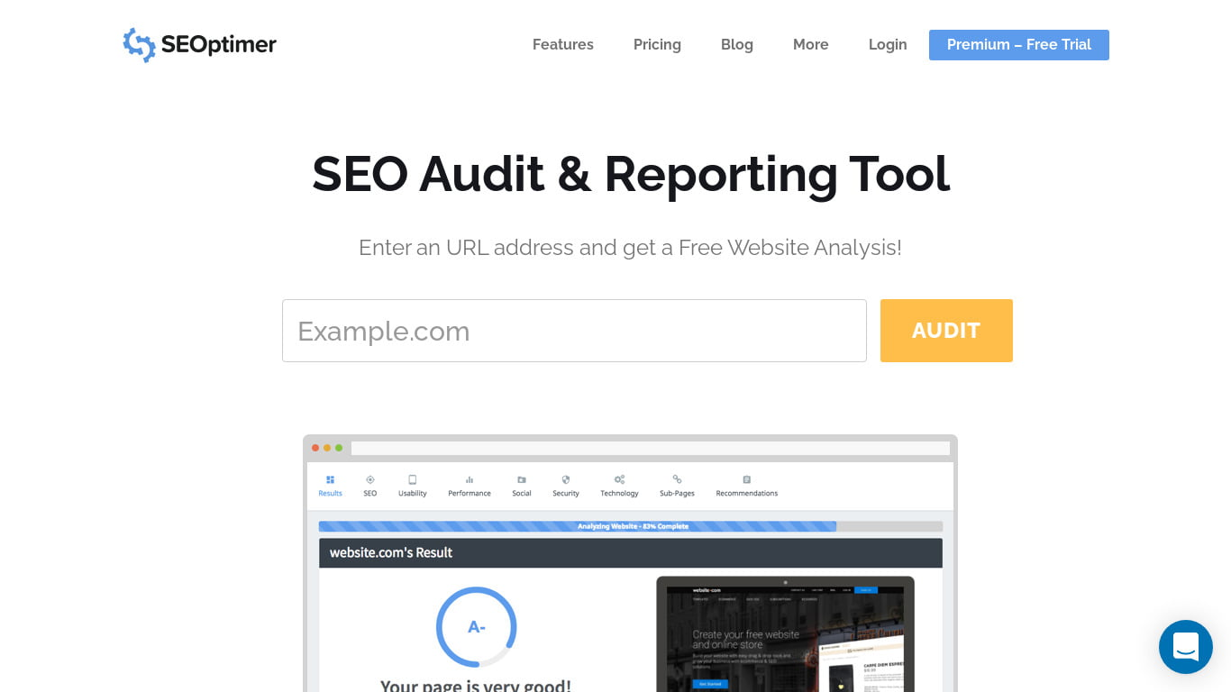 SEOptimer SEO Audit Tool